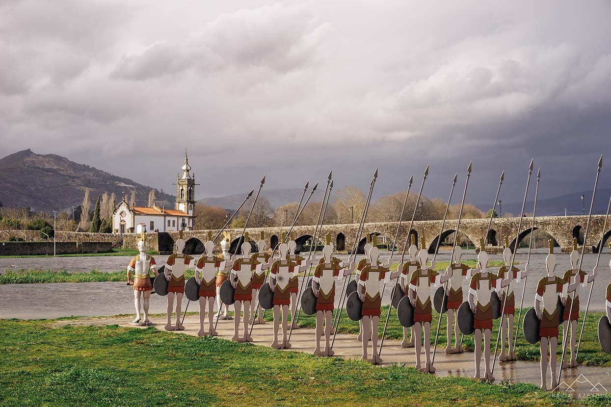 Soldados romanos em Ponte de Lima
