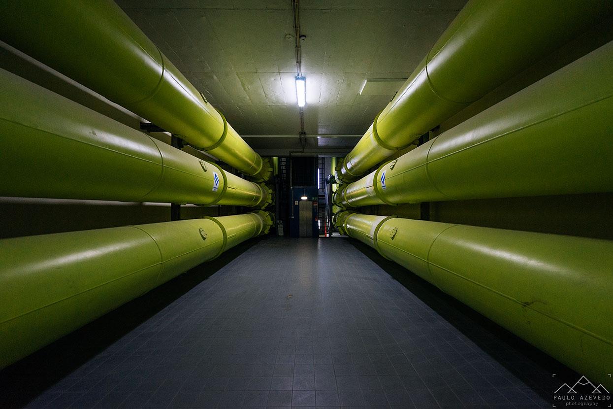 Pormenores da central hidroelétrica do Alto Lindoso