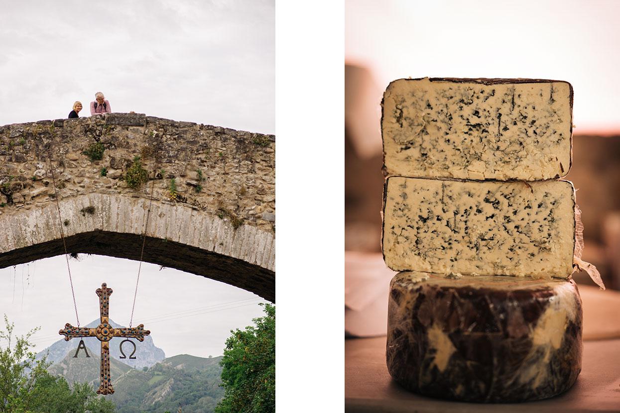 Cruz da Vitória e queijos dos Picos da Europa