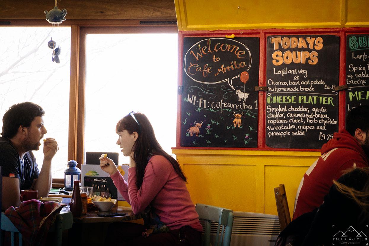 Café Arriba em Portree