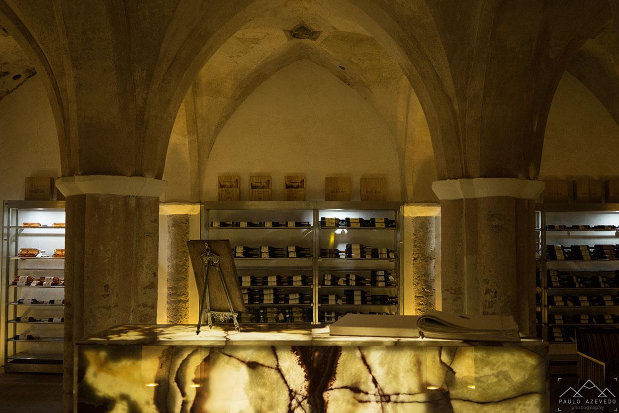 Antiga cisterna do Convento do Espinheiro, um hotel histórico em Évora