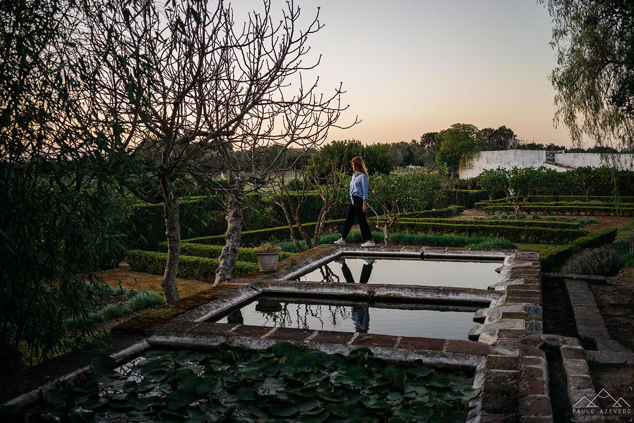 Jardins do Convento do Espinheiro, um hotel histórico em Évora