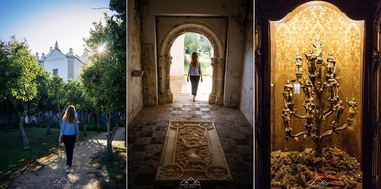 Pormenores do Convento do Espinheiro, um hotel histórico em Évora