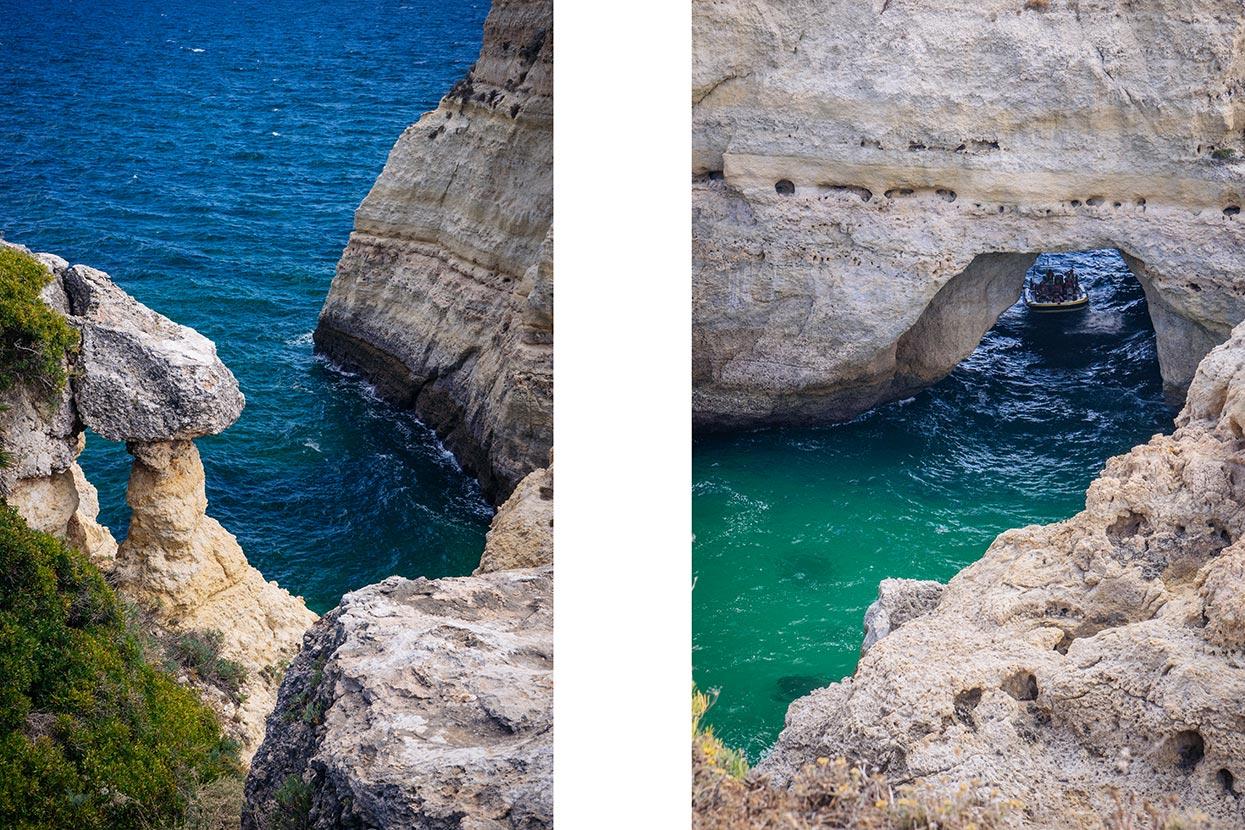 Pormenor das arribas e arcos sobre o mar