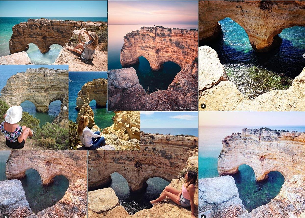 Foto do coração perto da praia da Marinha, Algarve