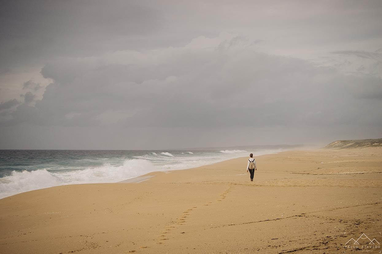 Praia do Monte Velho,  Trilho dos Poços do Barbarroxa, Reserva Natural das Lagoas de Santo André e da Sancha