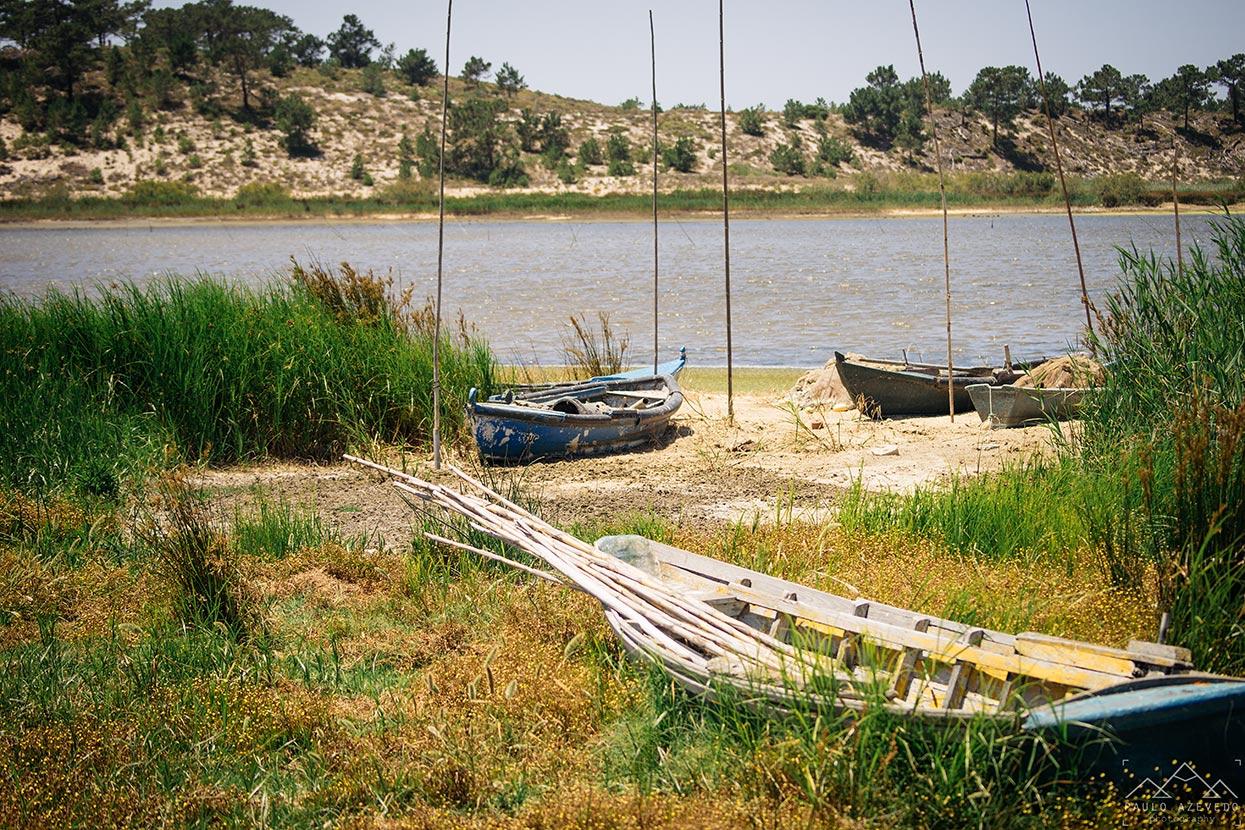 Barcos de pescadores, Trilho da Casa do Peixe, Lagoa de Santo André