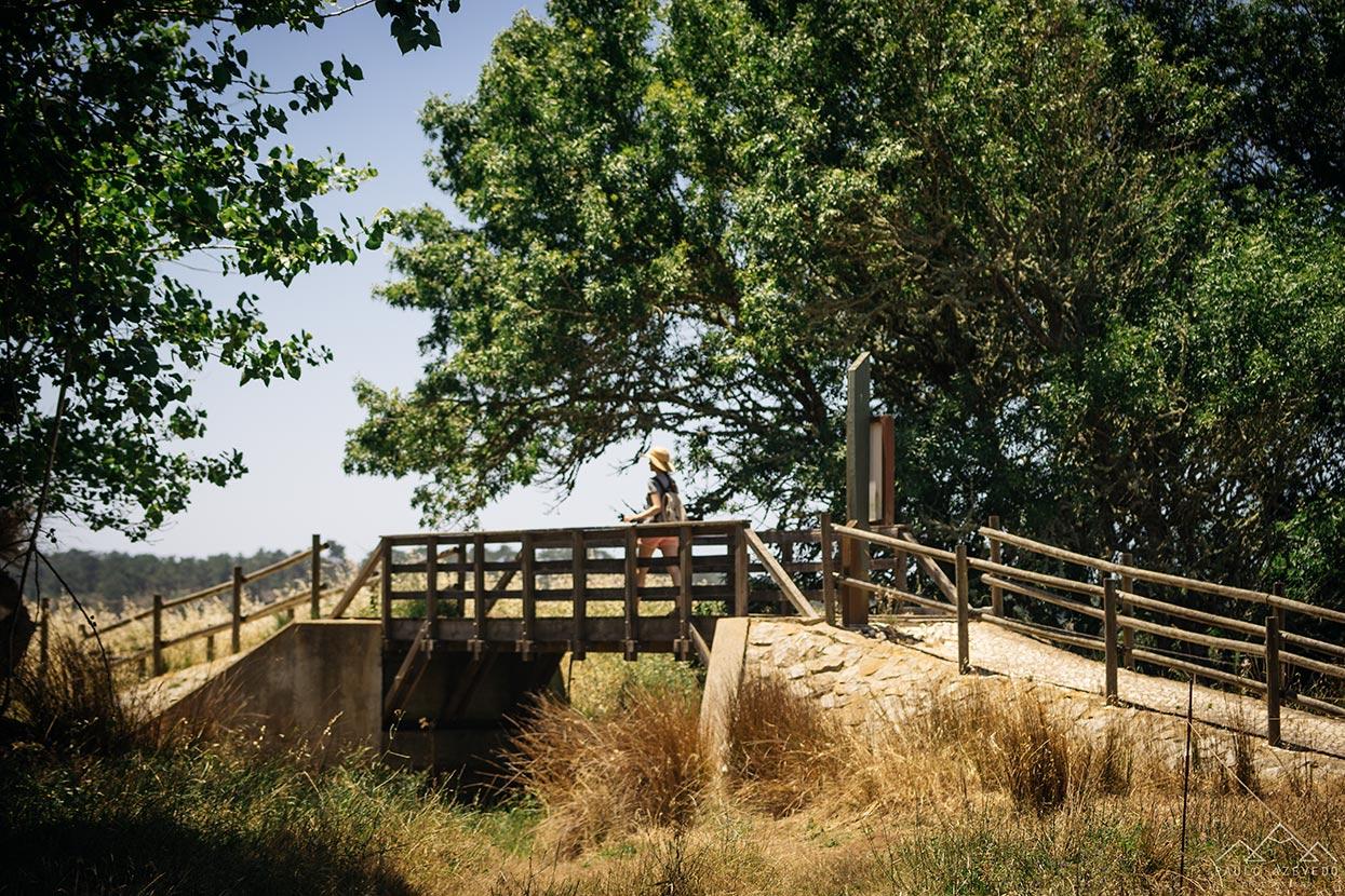 Ponte no Trilho da Casa do Peixe, Lagoa de Santo André