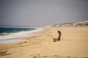 Praia deserta na Reserva Natural das Lagoas de Santo André e da Sancha