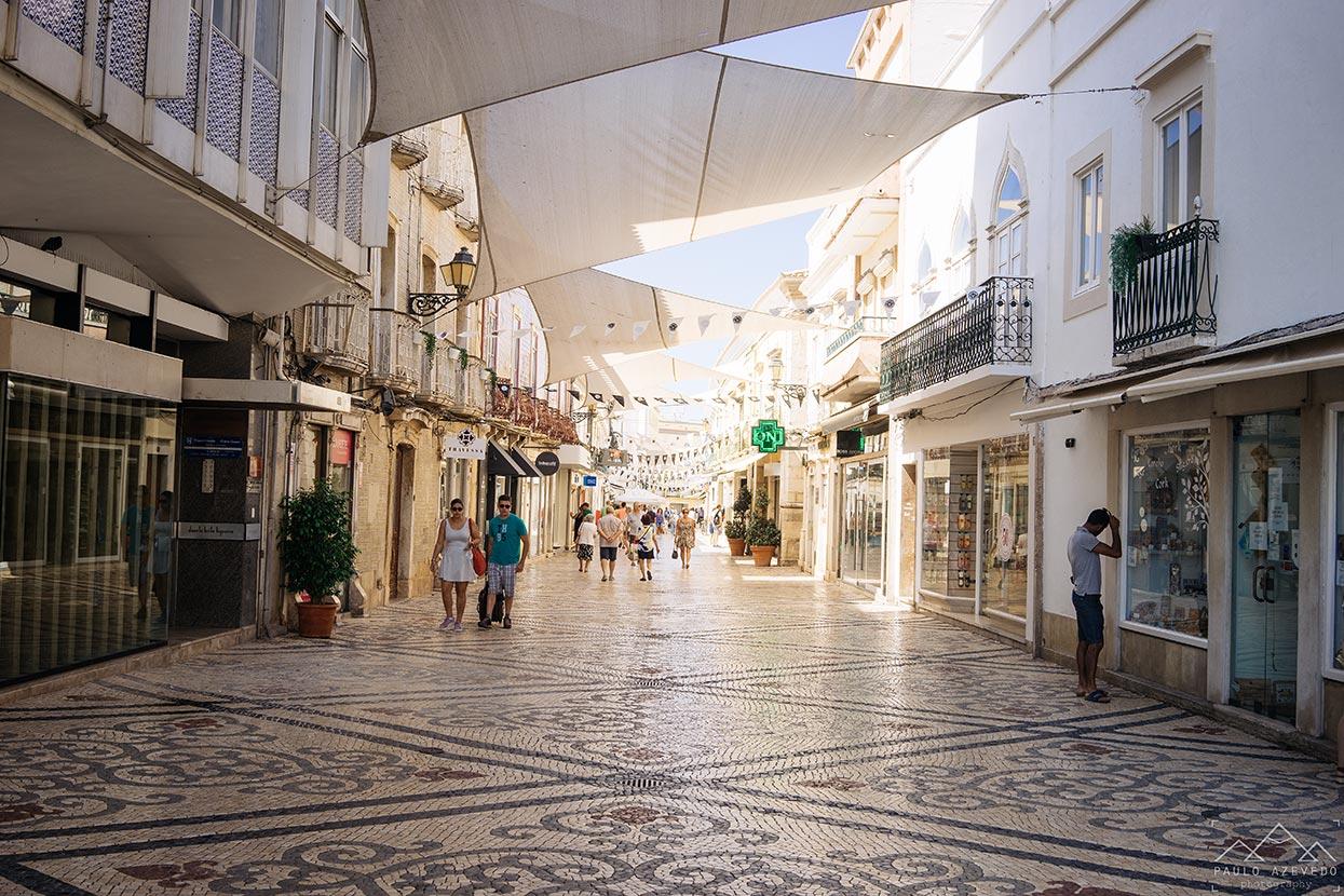 rua de santo antonio na baixa de faro