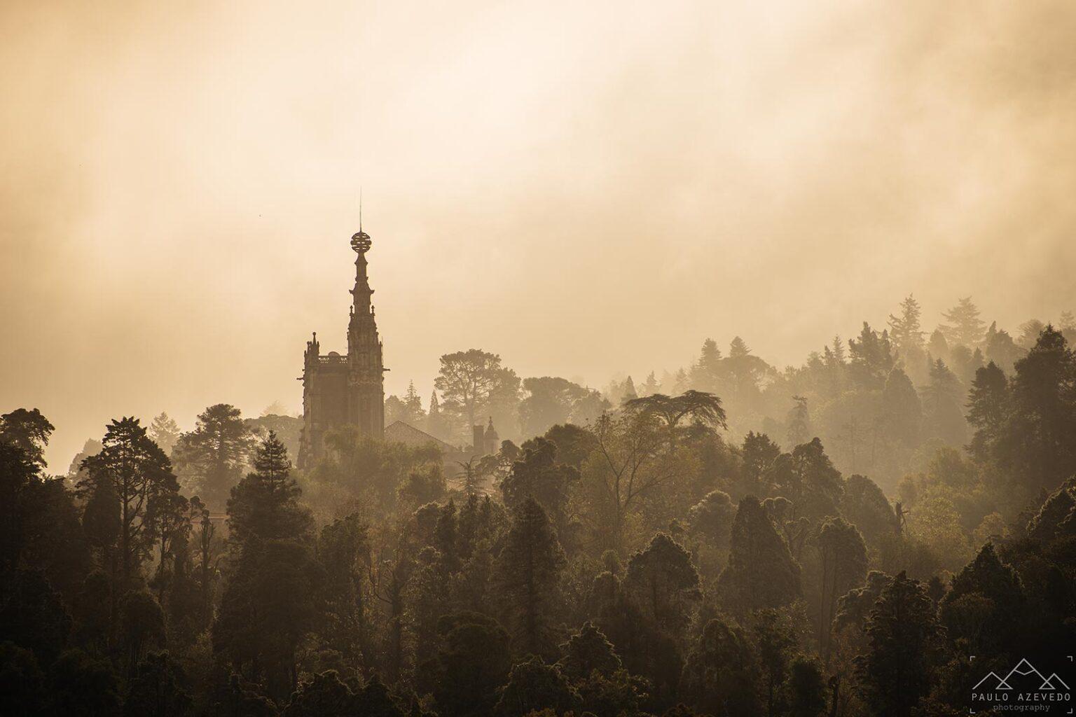 Palácio do Bussaco sob o nevoeiro