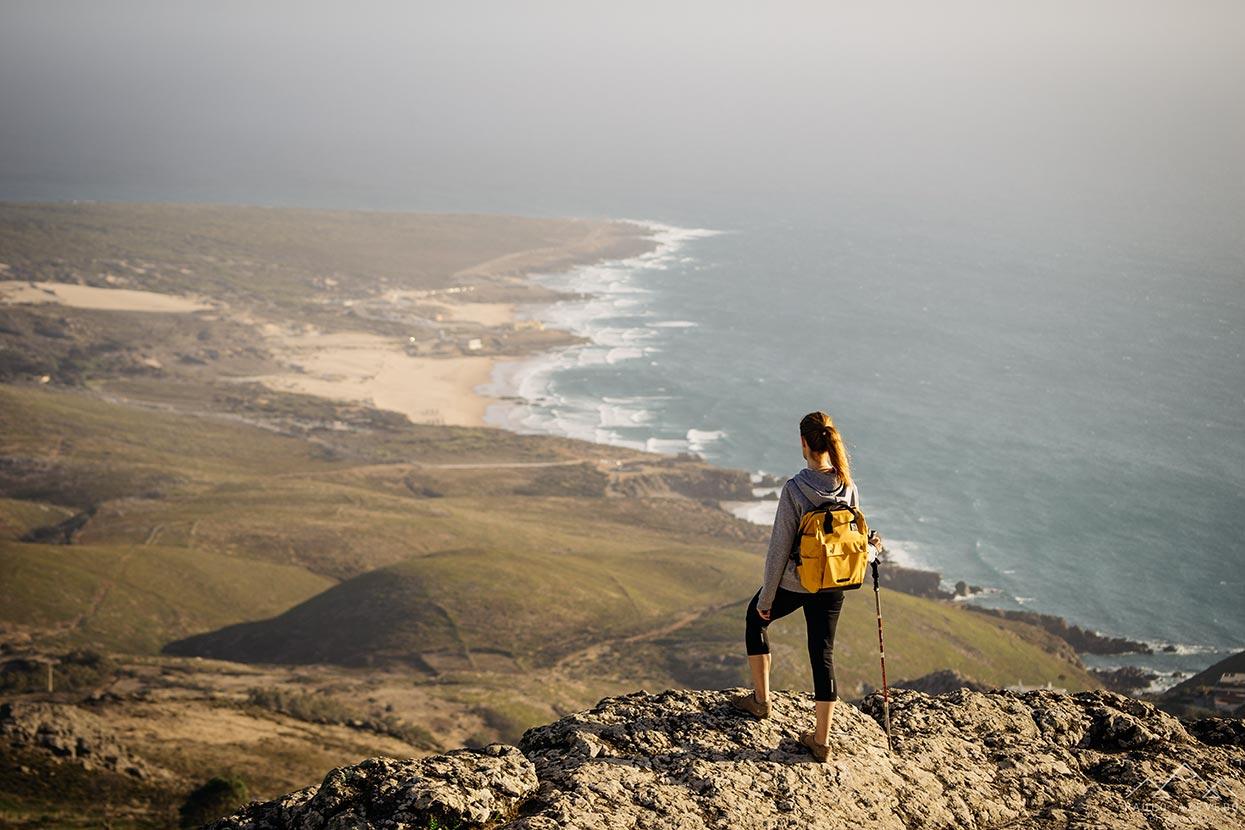 Vista sobre a Praia do Guincho desde a Peninha