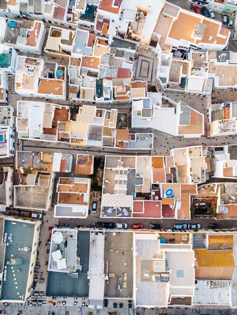 vista aérea de olhão