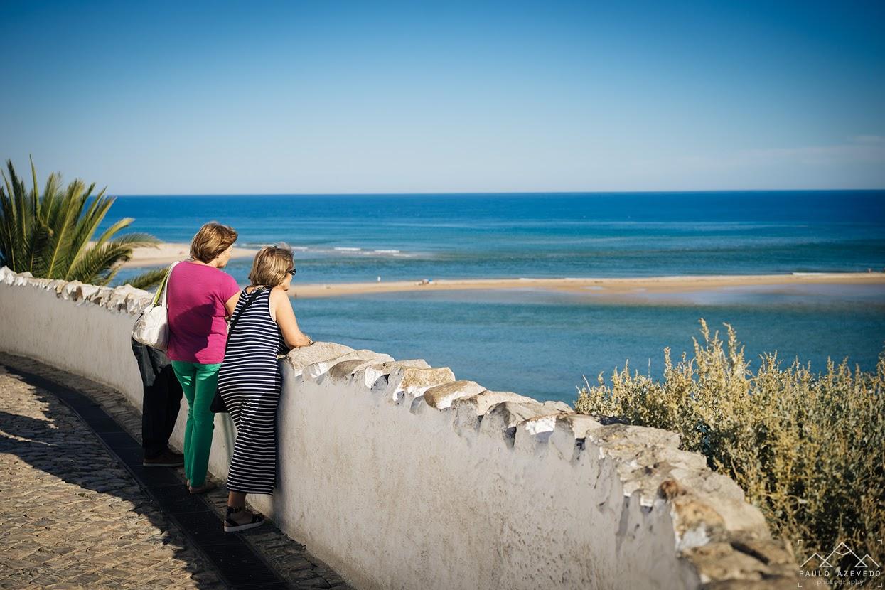 Praia da Fábrica vista do Forte de Cacela Velha