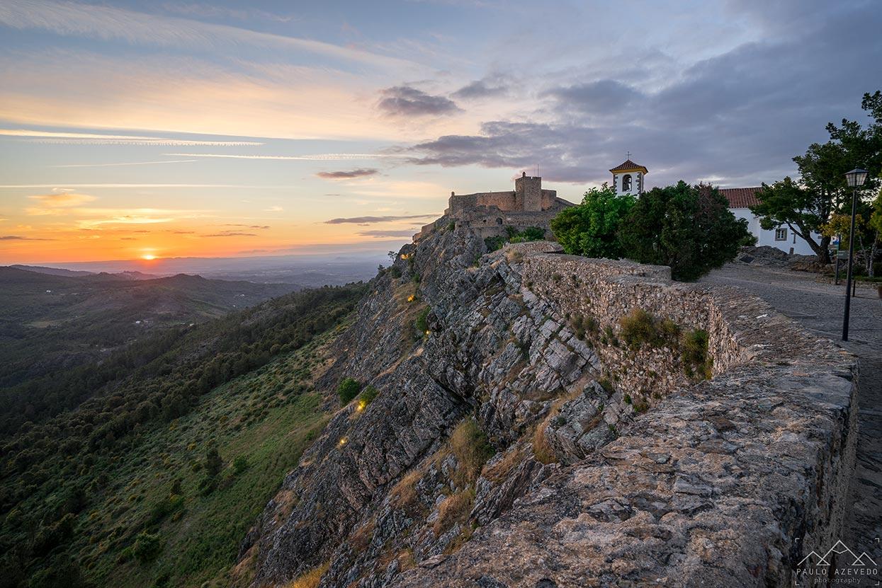 vista do castelo de marvão, Alto Alentejo